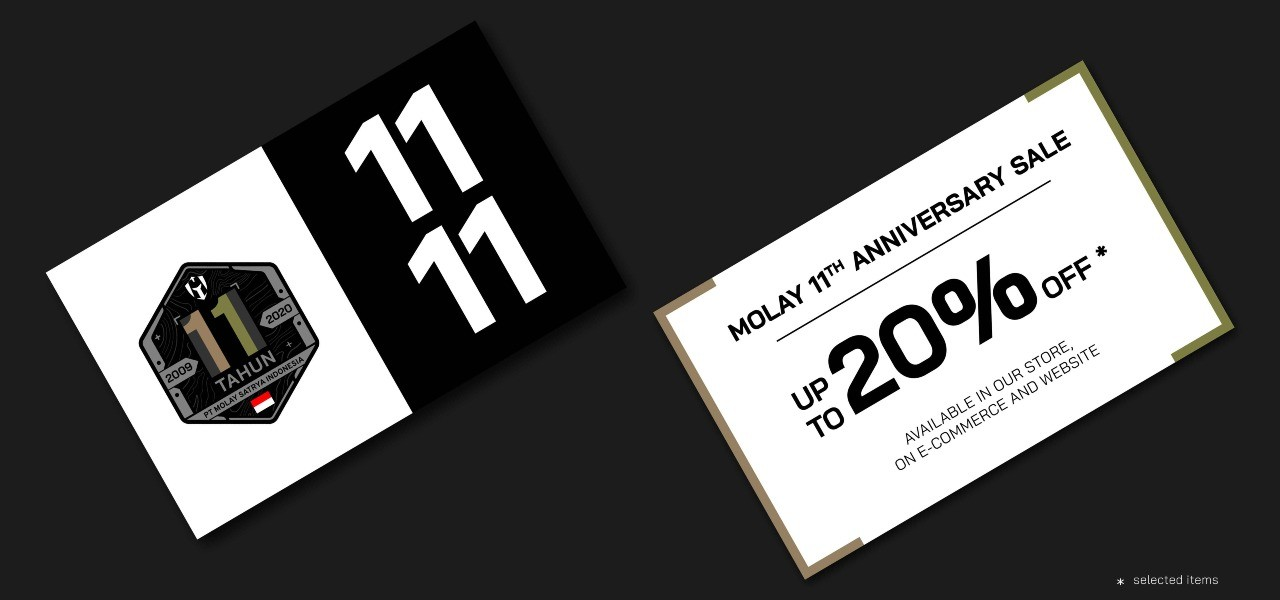 MOLAY 11th Anniversary Sale